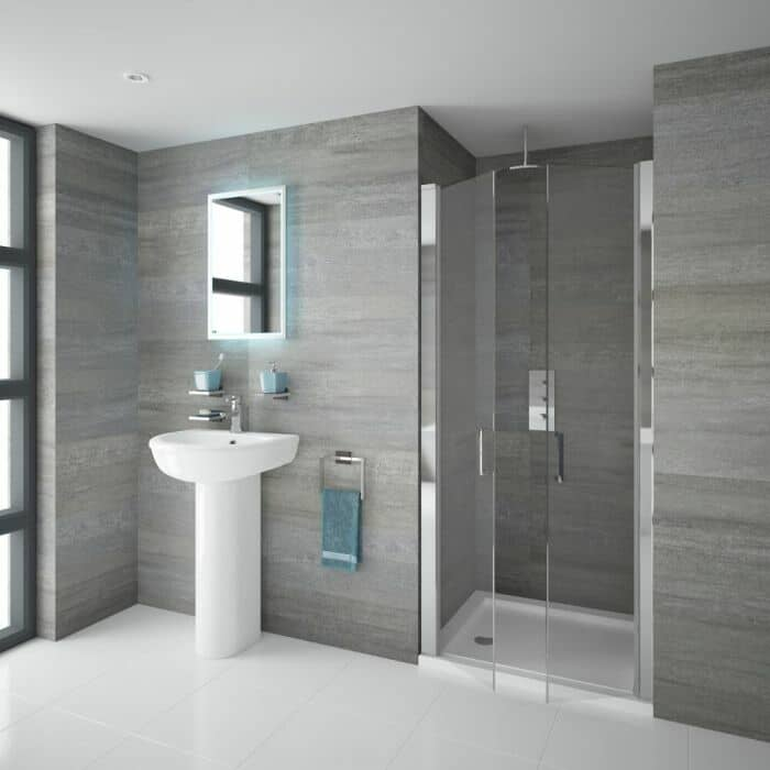 Porta doccia battente doppia