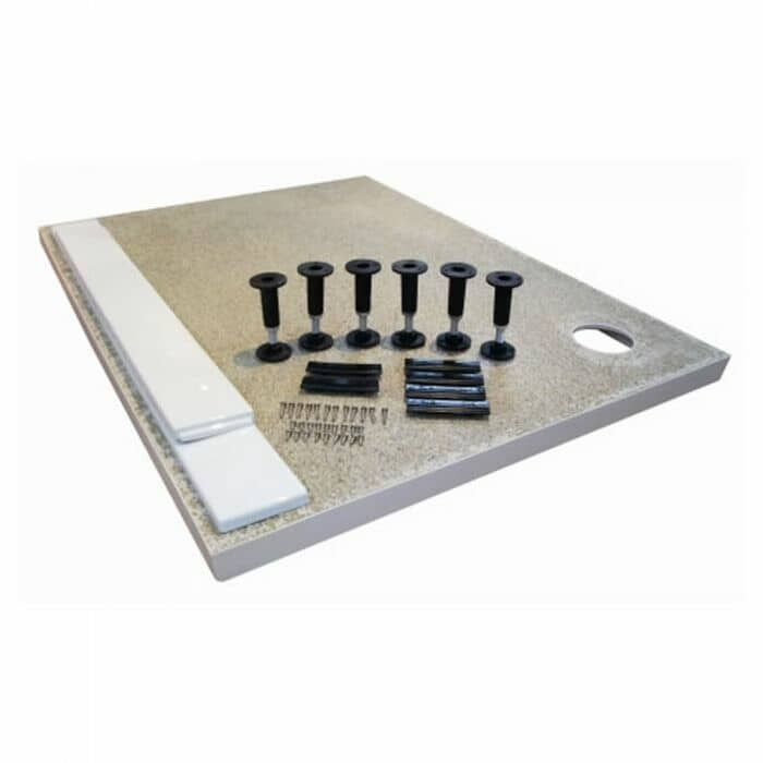 Piedini e pannelli di montaggio per piatto doccia rettangolare