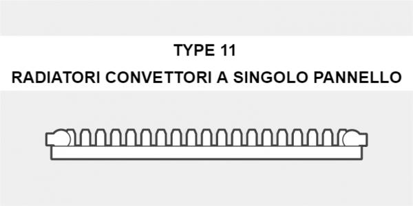 radiatori convettori a singolo pannello o type 11