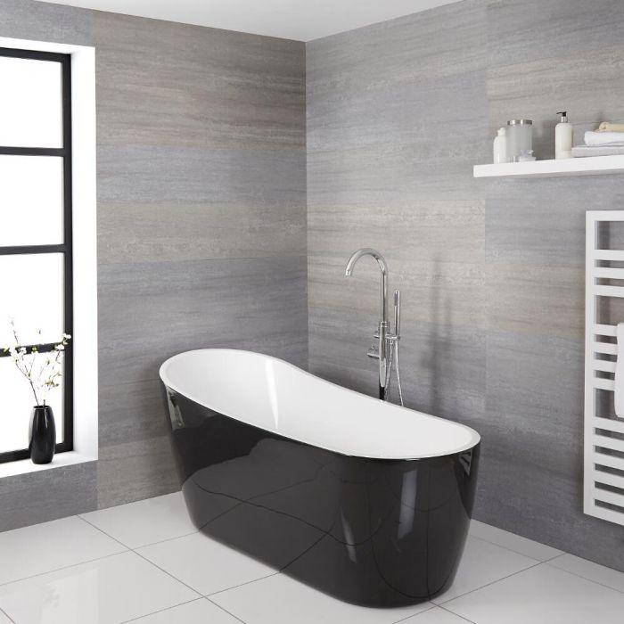 Bagno Moderno Bianco E Nero.Nuove Idee Colore Per Il Bagno Moderno